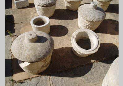 Ancient marble jars